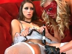 Smoking hot lesbain whores Celeste Star and Samantha Saint in arousing...