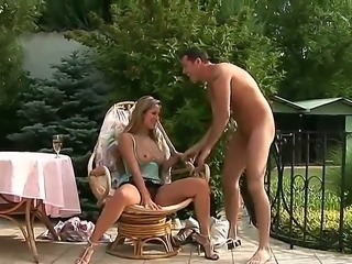 Gorgeous and arousing blonde babe Regina Ice gets her shaved taco licked...