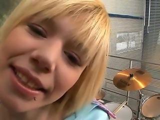 Cute and sweet blonde teen Denni
