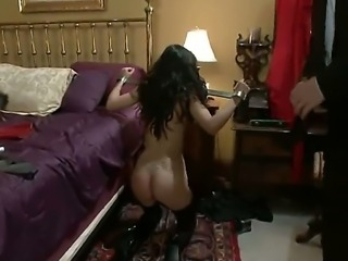 Lou Charmelle is tortured by her wild and crazy hot young boss James Deen in the hotel room