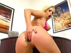 Isabella Clark loves feeling stiff toy pounding her tight ass in wild and...