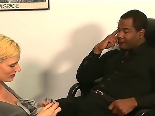 Black guy Tyler Knight is fucking hot babe Darryl Hanah with his enormous dick