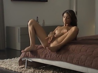 Wet orgasm of exotic beauty stripping