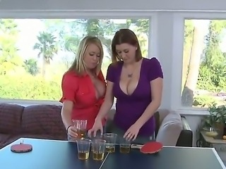 Provocative blonde and brunette whores Brandy
