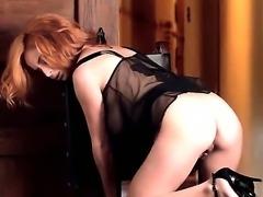 Superb Ashley Graham is having intense pleasure masturbating her clean shaved...