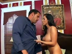 Voluptuous brunette Veronica Rayne with big fake tits is so hot and  attacks...