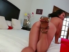 Asian brunette Jessica Bangkok loves having her huge tits and tight pussy...
