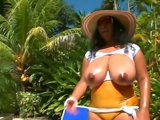 Dinara is exceptional babe and her trump cards are her insane and huge natural boobs