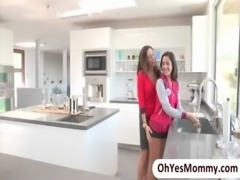Sexy teen Chloe Amour has lesbian sex with her stepmom free