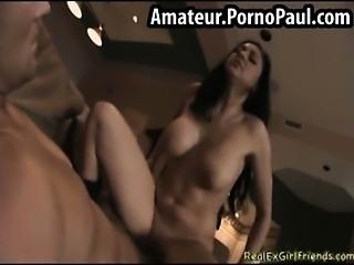 Hot girlfriend rides cock