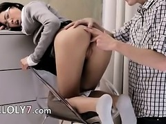 horny wow secretary fucked hard