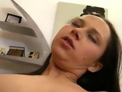 Very hot POV scene with a brunet cutie getting her pussy hole fingered and...