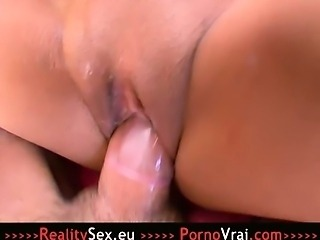 French Arab Teen has Orgasm