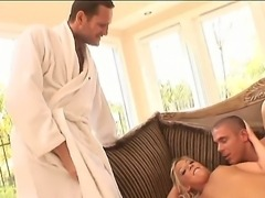 Blonde babe Holly Fox fucking like sluts in nasty hardcore along Ian Scott
