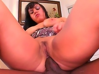 Nasty bitch Kendra Star is double penetrated by two ebony fellows before the camera. Their monster cocks are going to penetrate into vagina, mouth and ass of bitch.