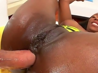 Mike Adriano stuffs her anus with his hard and huge cock. Persia B is one smoking ebony who is here to take it hard and deep in her anus. She really enjoys while getting it in.