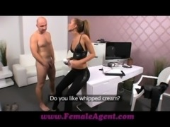 FemaleAgent Casting creampie for teasing agent free