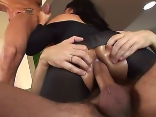 Watch the great threesome porn with Marco Banderas, Mika Tan and Steve Holmes. Two men are stuffing all loving holes of the Asian babes by cocks and drilling her wild.