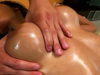 Superb hottie Sadie Santana enjoys large cock drilling her and making her moan