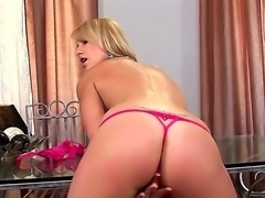 Gentle and passionate blonde Niki Sand rubs her sexy pussy and sweet clit