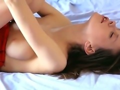 Petite cute chick Gloria fingers her muff as she moans in sweet lovely tones...
