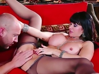 Eva Karera gets in the sexy mood sitting on top of a straight trimmed white cock.