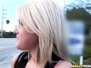 Blonde shows her love for tool sucking to (Talk to This Girl