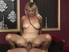 Sexy granny Irene gets her horny hairy bush drilled in hardcore doggystyle