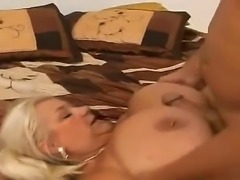 Fatty milf Linda sucks her fuckers dick and gets pleasure when she gets it in...
