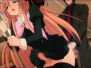 Anime futanari enjoys anal fucking