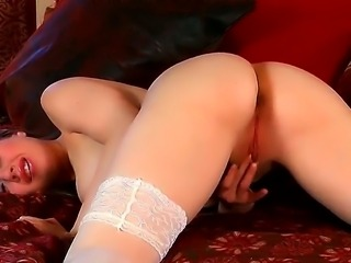 Horny cute babe Jessie June turns and turns as she plays with her beautiful...