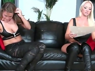Hot lesbian scene with a dangerous bitch named Megan her friend Molly Cavalli