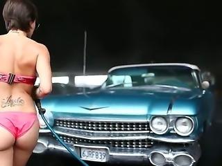 Amazing lesbian action with a horny slut named Belladonna and Dana DeArmond
