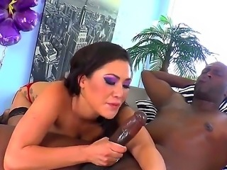 Big dicked Lexington Steele gets to fuck hot asian London Keyes in her ass till he cums