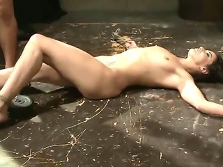 Sweet brunette Andy Brown gets tied and punished with a wicked dude as she...