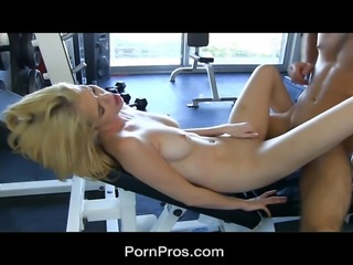 Hot work-out slut Tiffany Fox gets fucked nice and hard. She wants to keep her muscle tone tight but this big dick just might loosen some of them for her. Plus he put her on a liquid diet consisting of fresh cum.