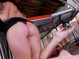 Busty Jayden Jaymes enjoys having hardcore sex with her black boss eager to...