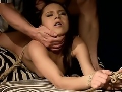 Crazy BDSM scene with a sexy and passionate babe whose name is Alesya