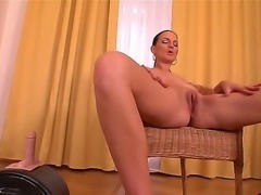 Nasty brunette Walleria shows her gorgeous body and plays with a toy