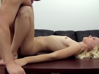 blonde beauty casting couch