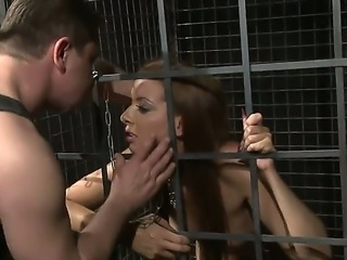 Sexy inmate gets the banging of her life as her gaping cunt is romped with vigour