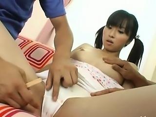 Hairy schoolgirl from korean fucked hard