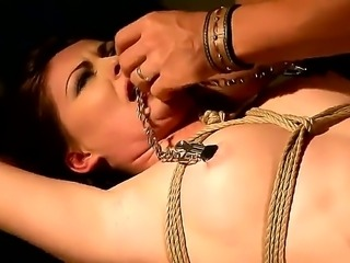Naughty slave brunette Safira White must be given a hard bdsm punishment for being such a slut