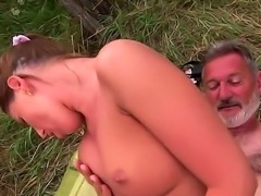 Sexy brunette babe enjoys sucking cock and licking ass before being...
