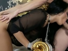 Hardcore anal action with a passionate brunette whose name is Bettina DiCapri
