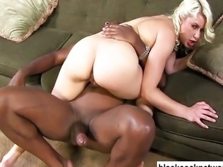 Mandingo fucking a nasty blonde slut