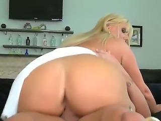 This blonde milf havent had sex in a while and she has to have sex since she...