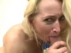 Big ass granny loves it when a young throbbing cock penetrates her deep as...