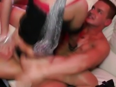 Party sluts pounded from behind