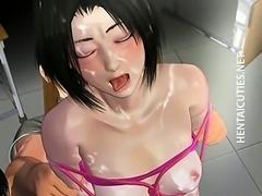Hentai harlot gets pussy toyed